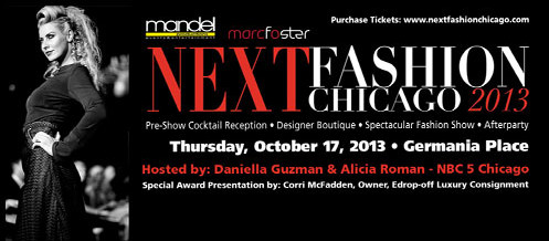 Leah Chavie sponsoring NEXT Fashion Chicago 2013